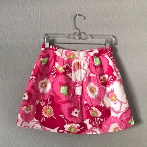 Pink Floral Lilly Pulitzer Skirt